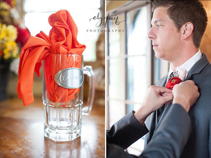 groomsmen gift, golf shirt and beer mug