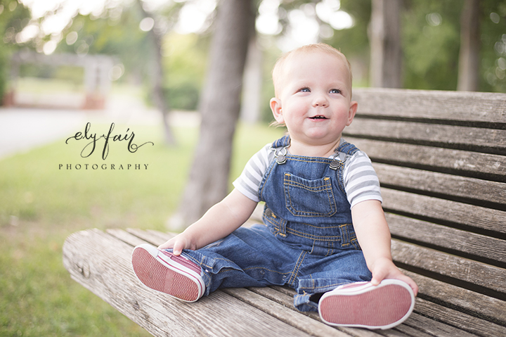 Baby on Bench, Ely Fair Photography