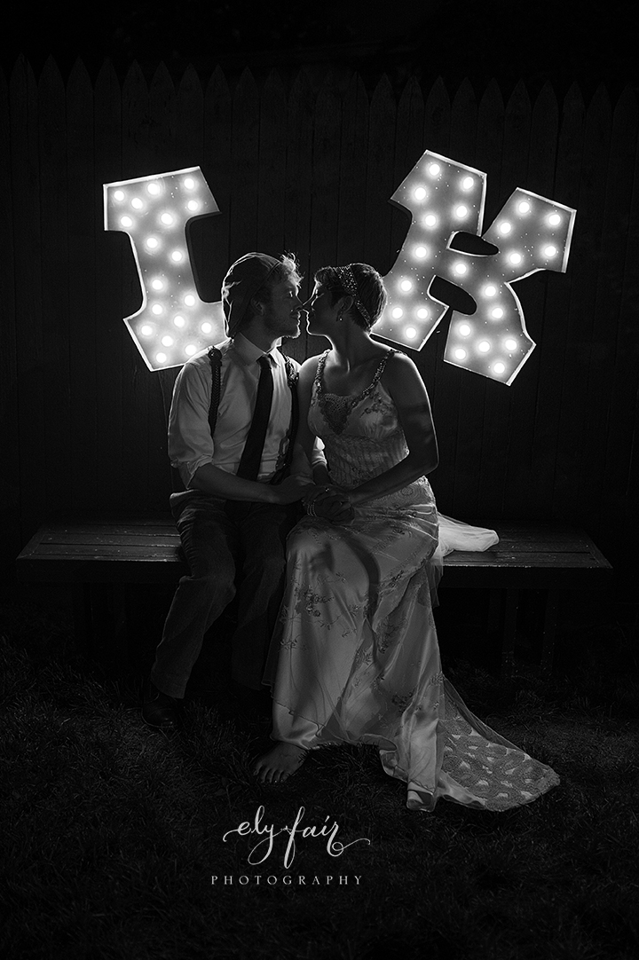 circus themed wedding, marquee letters