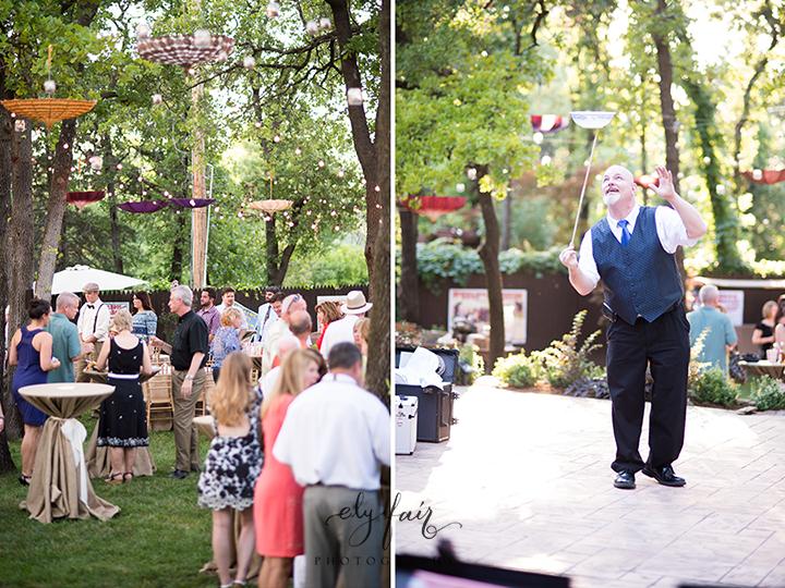 circus themed wedding, juggler
