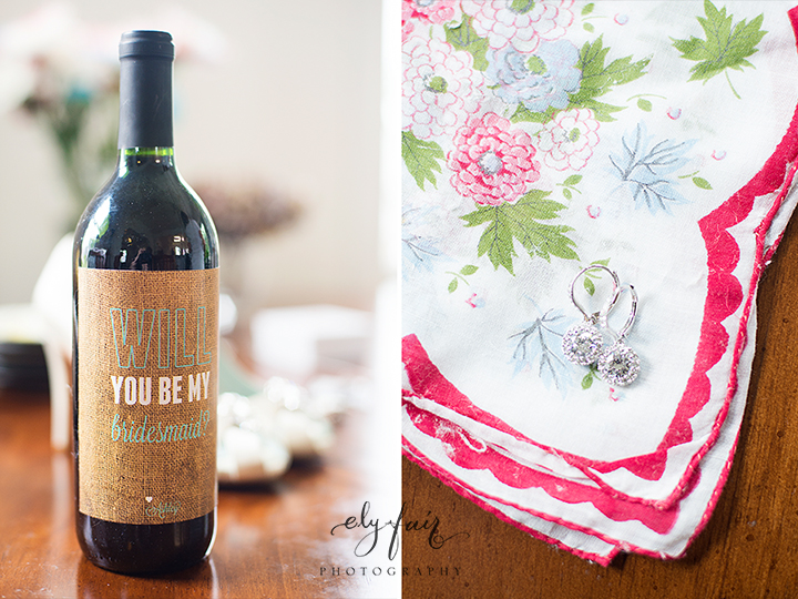Will you be my bridesmaid wine, Ely Fair Photography