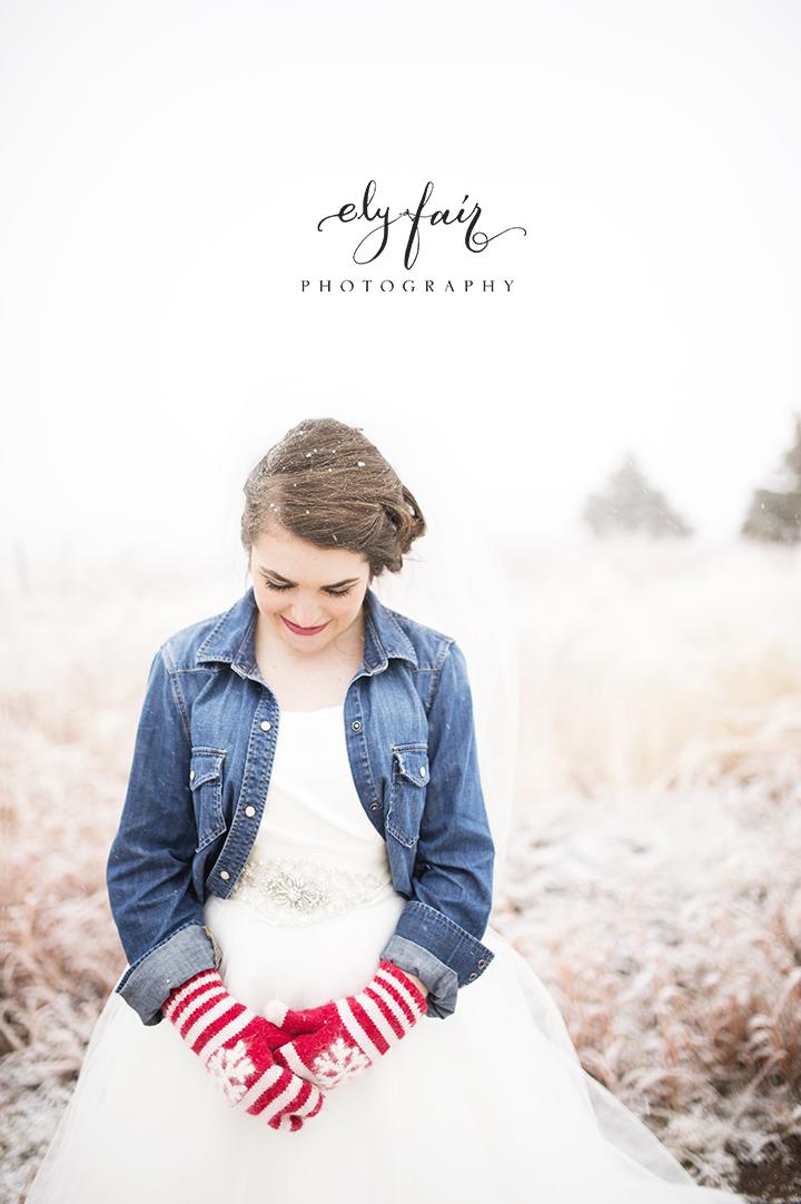 Oklahoma Wedding, Ely Fair Photography, Winter, Snow