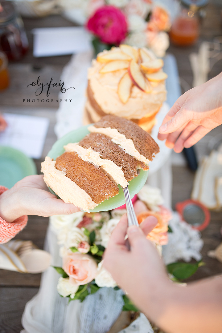 Mother's Day Picnic | Cuppies and Joe | Wednesday Custom Design | Juniper Design's Floral | Ely Fair Photography | Peach Cake