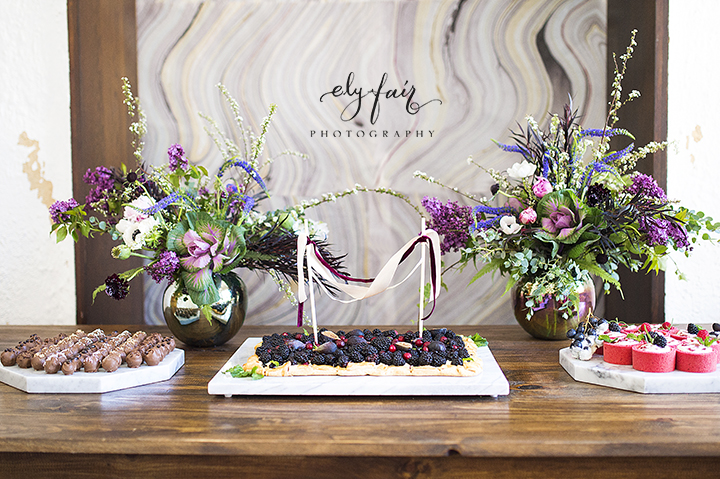 Ely Fair Photography | Birdie Blooms | Marble Wedding Inspiration | Berry Tart
