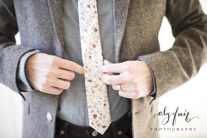 Ely Fair Photography | Birdie Blooms | Groom Floral Tie