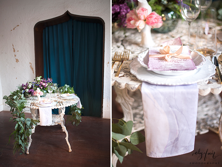 Ely Fair Photography | Birdie Blooms | Marbled Wedding Inspiration | Marbled Napkins