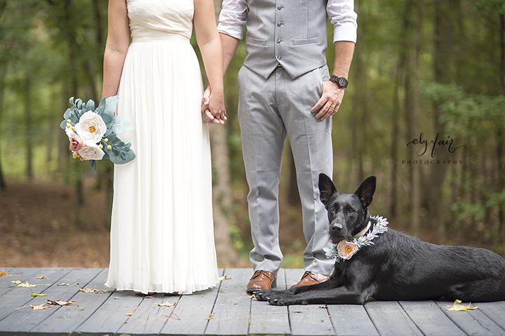 Ely Fair Photography | Forrest Wedding | Beaver's Bend, Oklahoma | Dog Wreath
