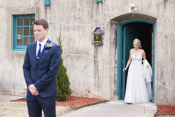 Dresser Mansion, Tulsa Oklahoma Wedding | Ely Fair Photography© | First Look