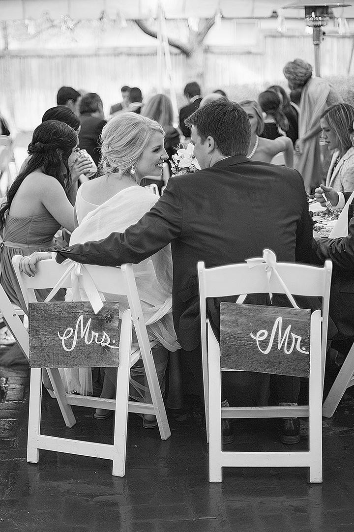 Dresser Mansion, Tulsa Oklahoma Wedding | Ely Fair Photography© | Bride & Groom Signs