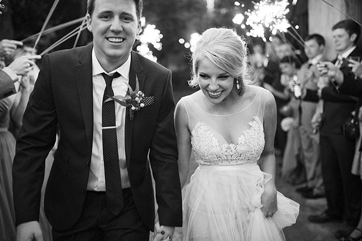 Dresser Mansion, Tulsa Oklahoma Wedding | Ely Fair Photography© | Sparkler Exit