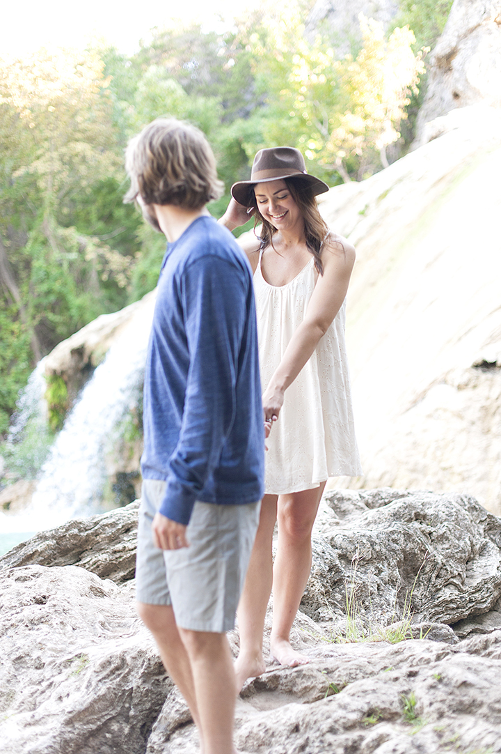 Ely Fair Photography | Engagement Session Waterfall | Oklahoma Photographers