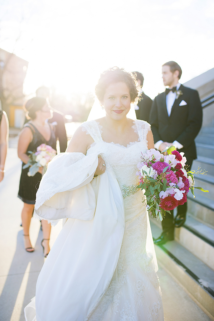 Ely Fair Photography | Oklahoma Wedding | Bride with pink bouquet