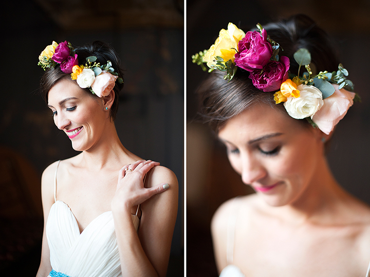Ely Fair Photography | Oklahoma Wedding | Colorful Floral Crown | Fiesta Wedding