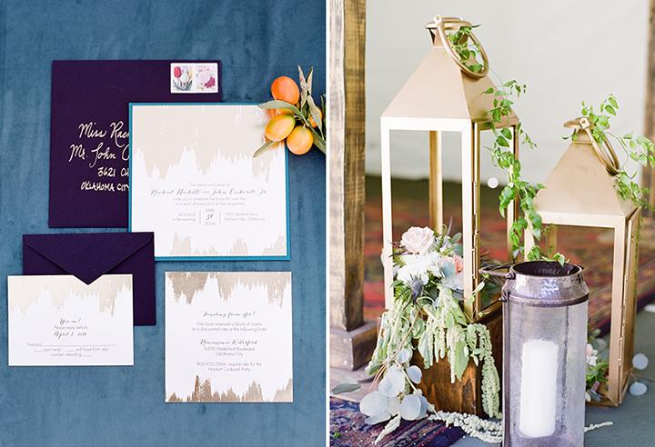ElyFairPhotography© | Surprise Wedding | Oklahoma Backyard Wedding | Emerson Events | Gold Invitation Suite
