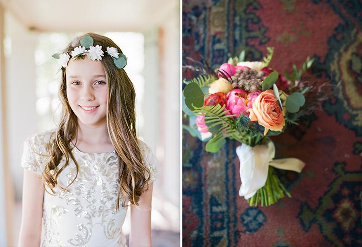 ElyFairPhotography© | Surprise Wedding | Oklahoma Backyard Wedding | Emerson Events | Flower Girl Crown