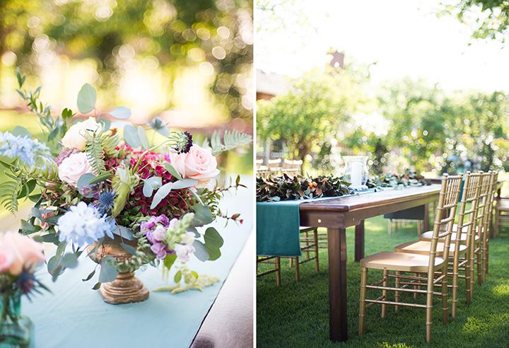 ElyFairPhotography© | Surprise Wedding | Oklahoma Backyard Wedding | Emerson Events | Colorful Floral