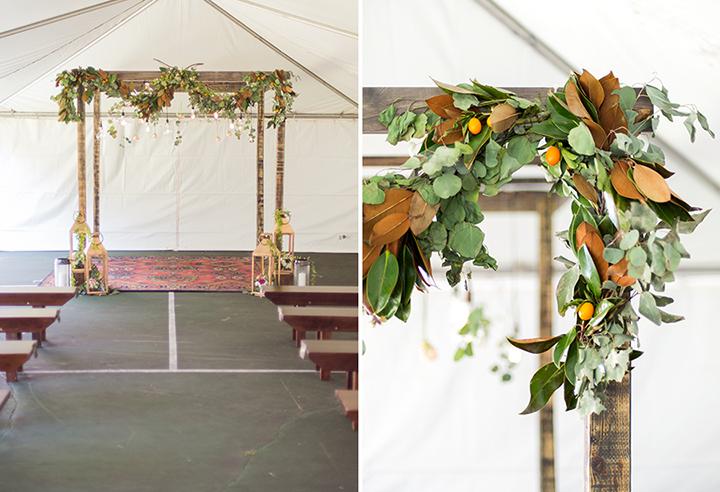 ElyFairPhotography© | Surprise Wedding | Oklahoma Backyard Wedding | Emerson Events | Kumquat Wedding Arch