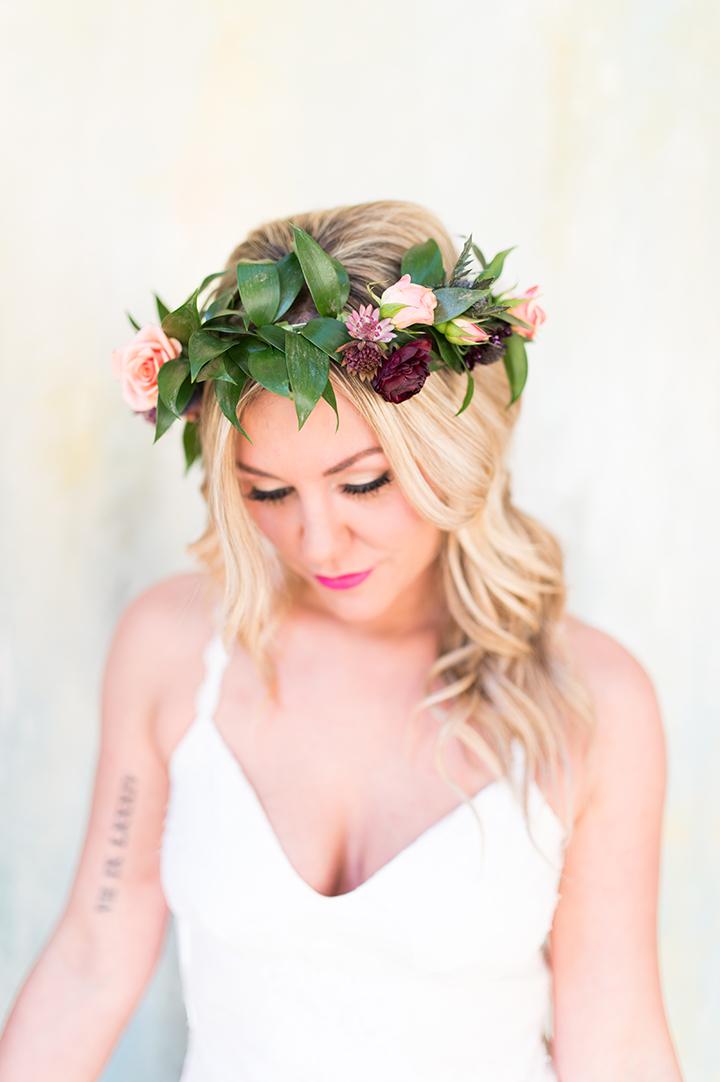 ElyFairPhotography© | Surprise Wedding | Oklahoma Backyard Wedding | Emerson Events | Floral Crown