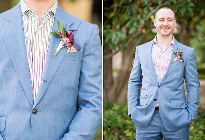 ElyFairPhotography© | Surprise Wedding | Oklahoma Backyard Wedding | Emerson Events | Blue Groom Suit