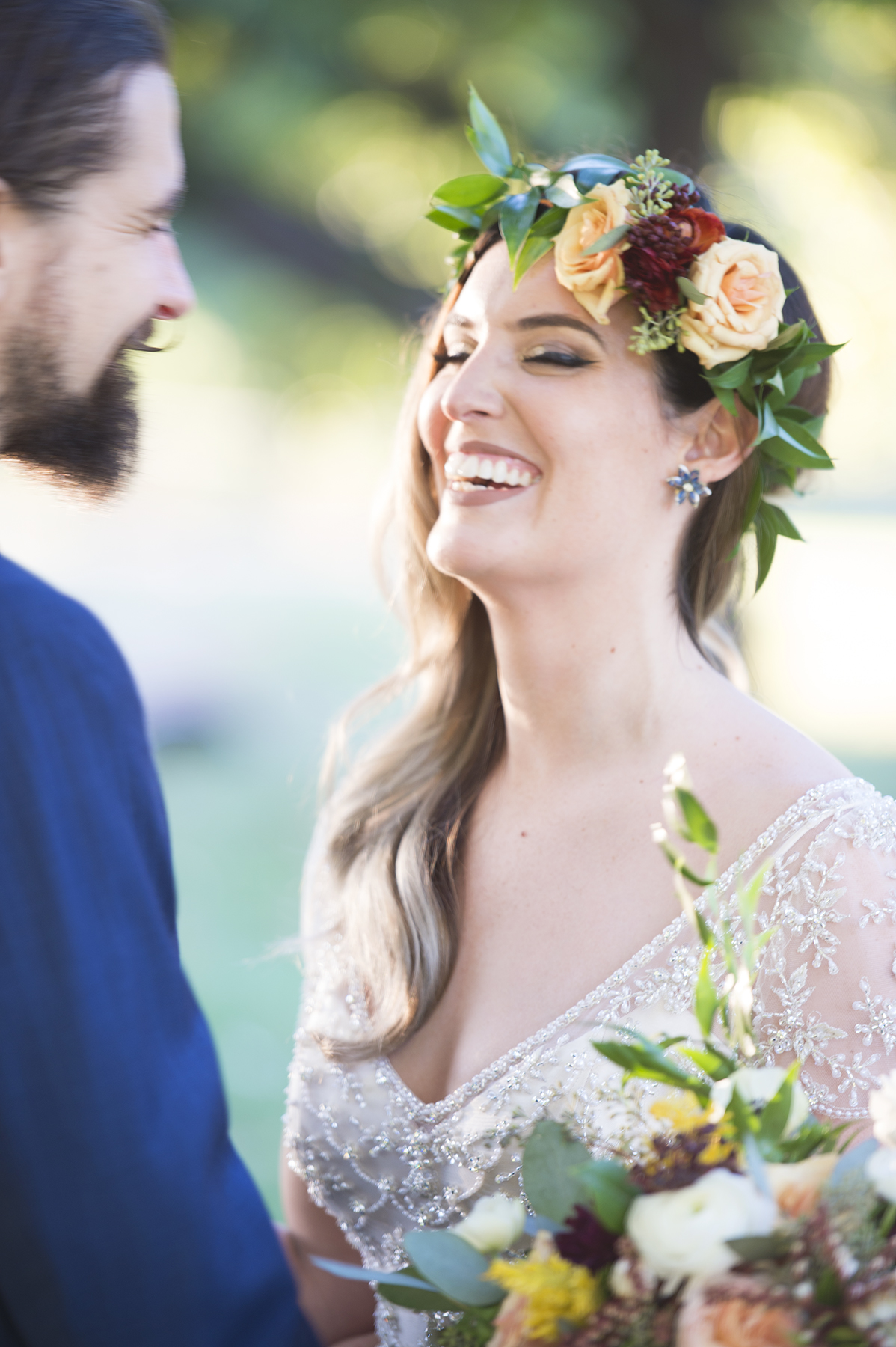 Oklahoma Wedding Photography | Will Roger's Park | Floral Crown | Bohemian Bride