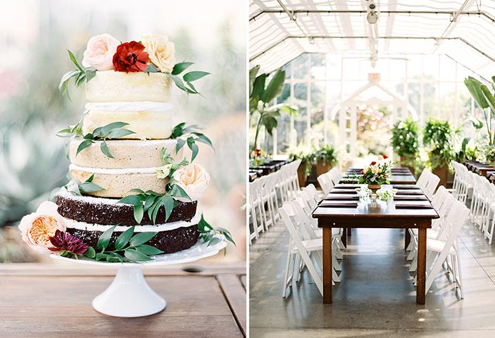 Ely Fair Photography   Greenhouse Wedding   Oklahoma City   Fall Wedding Inspiration   Naked Cake