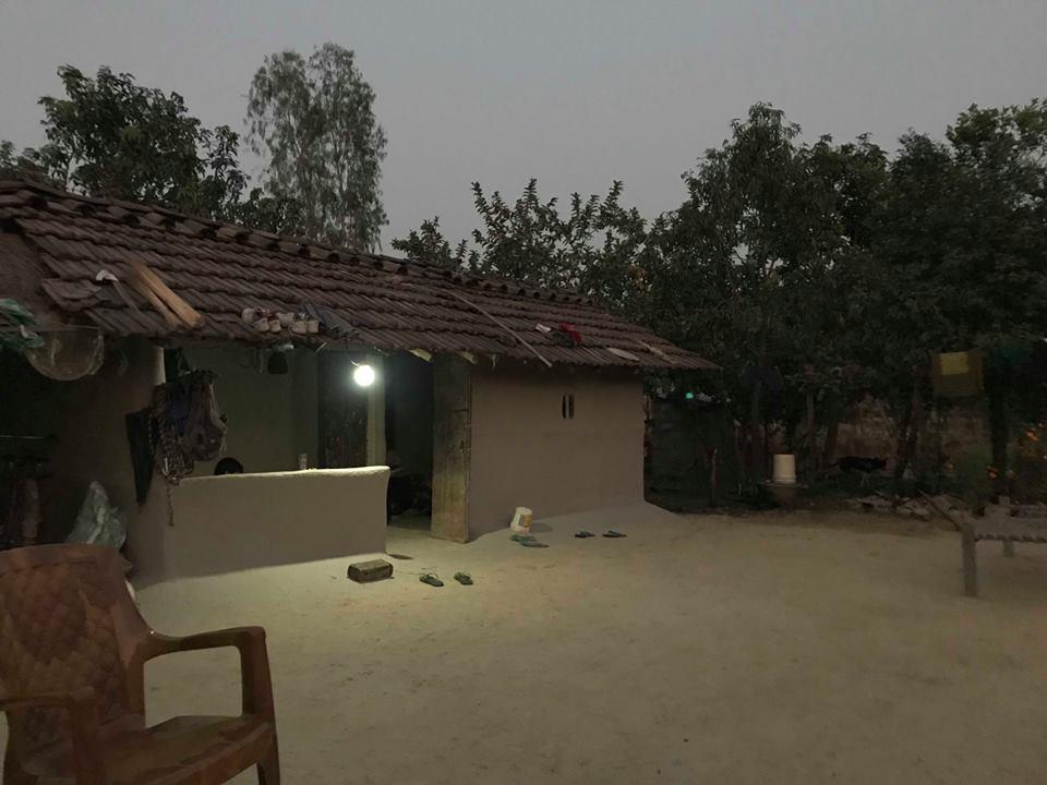 Her er huset til en av familiene vi ble invitert på middag til