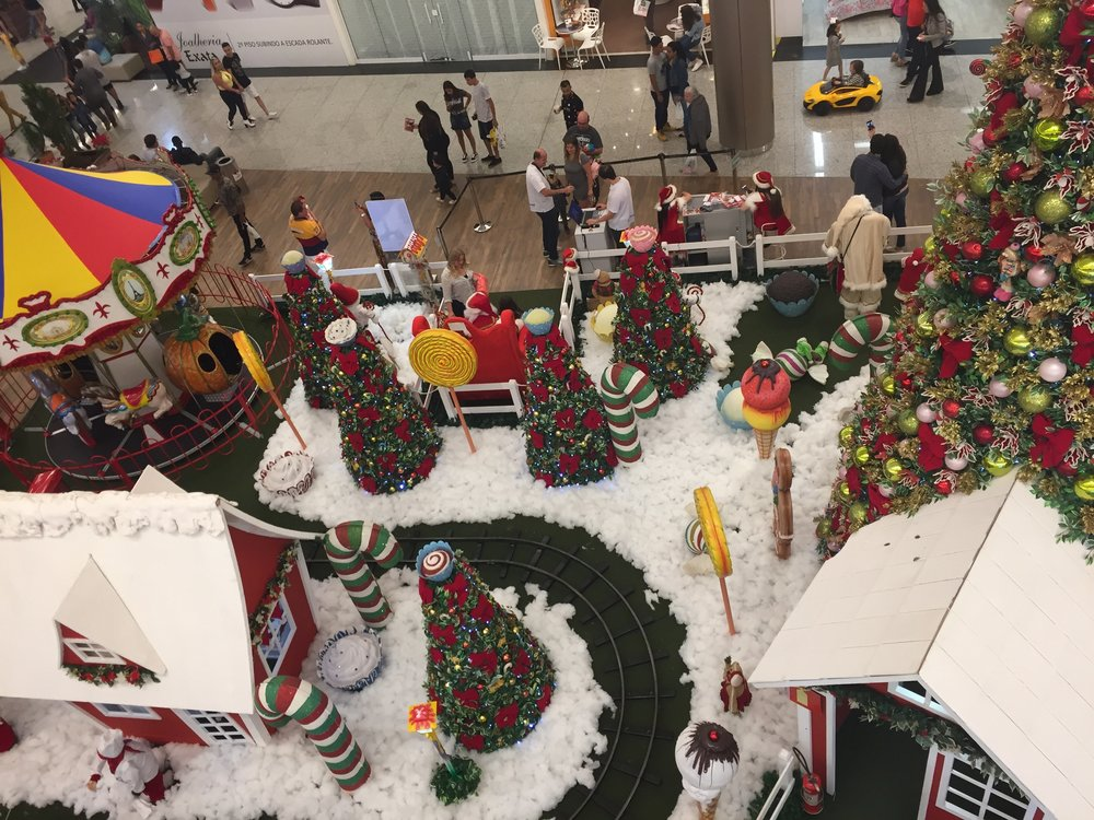 Noe lignende disse dekorasjonene finner man i alle fall i de fleste kjøpesentre  i Minas Gerais, om ikke i hele Brasil