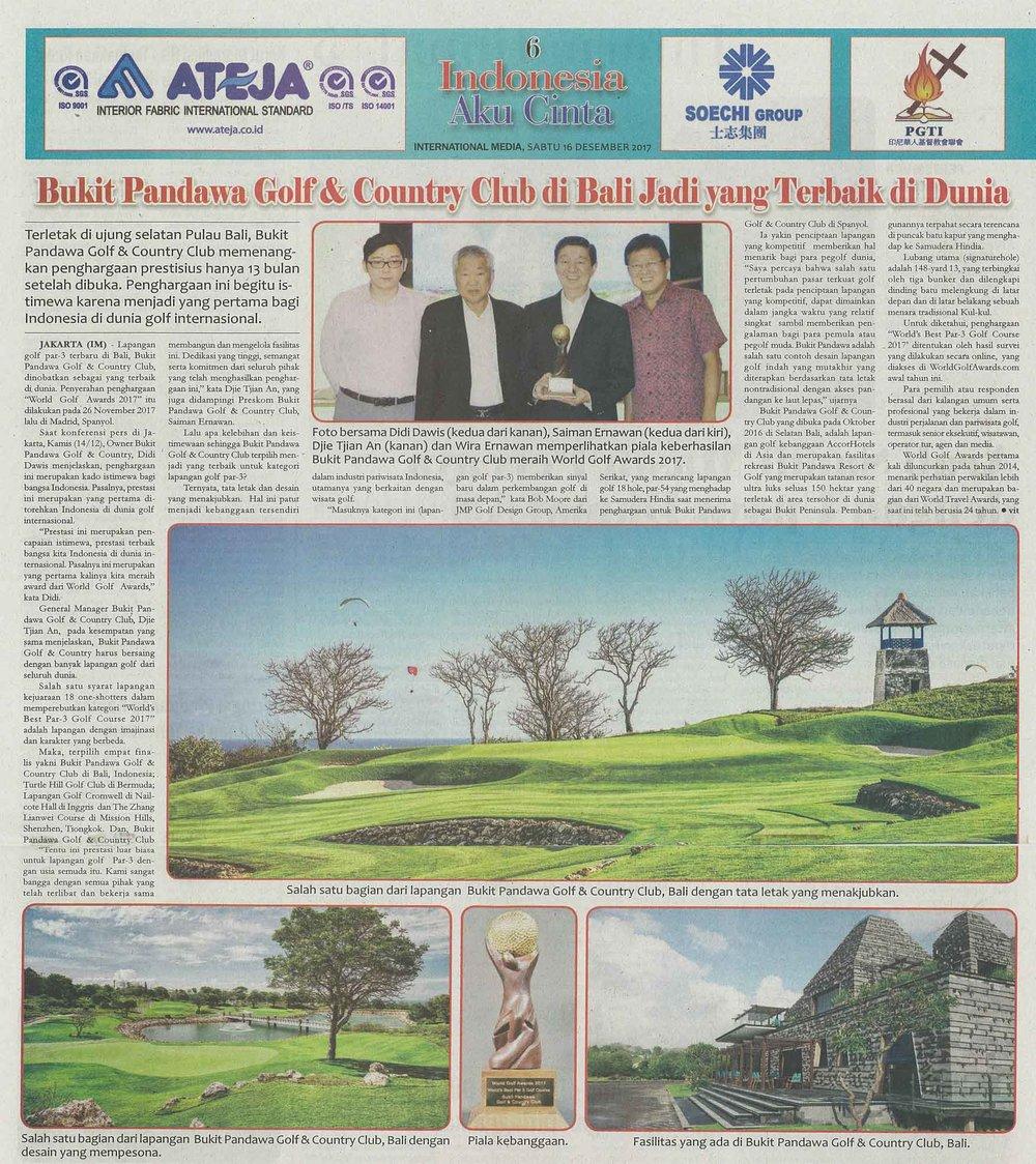 Media — Bukit Pandawa Golf & Country Club · Unforgettable Bali Golf