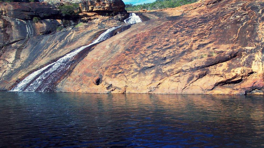 Swim at Serpentine Falls