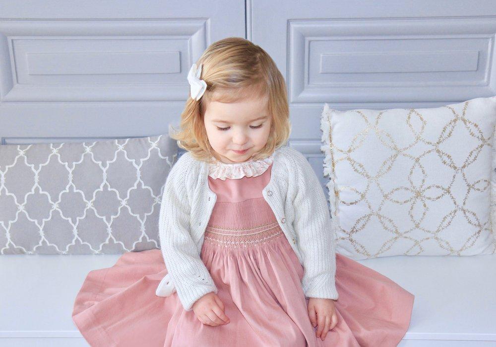 Handmade Amandine pink autumn dress