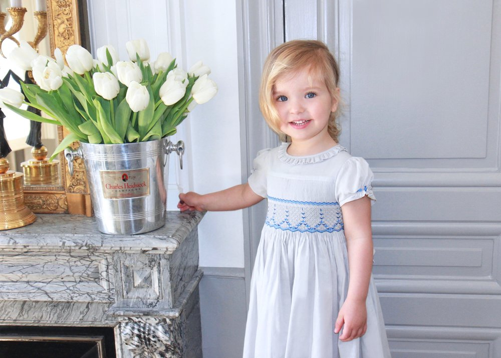 Handmade Amandine smocked dress