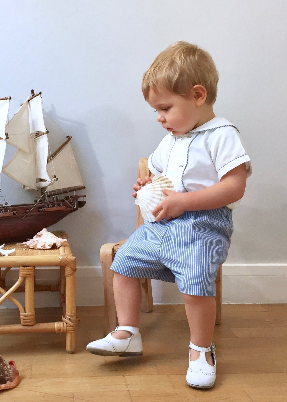 Baby boy handmade sailor outfit