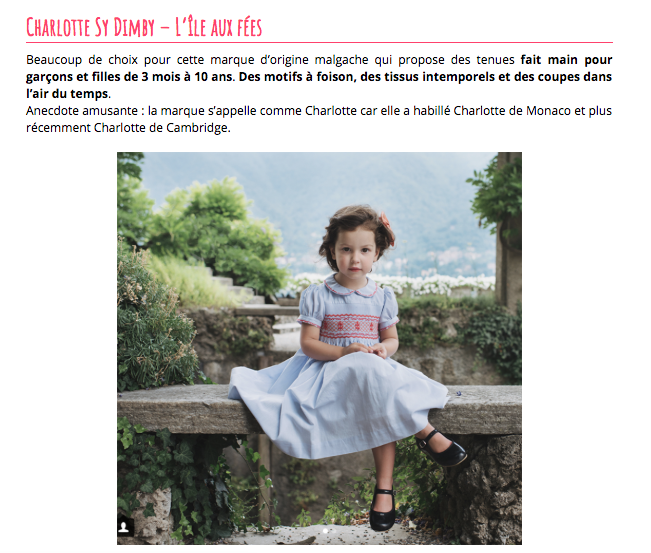 Maman Vogue article - smocked dresses