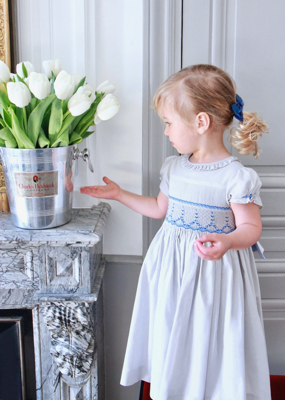 Paris boutique - handmade smocked dress - Children - French style