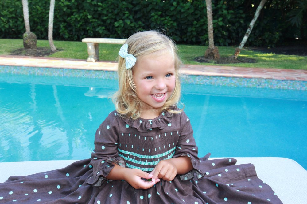 Handmade smocked dress - kids - Paris boutique