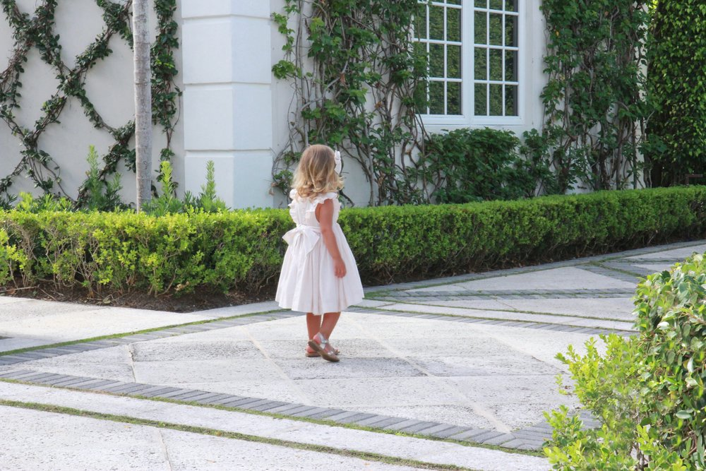 Charlotte sy Dimby handmade netti dress with ruffles - shopping with kids in Paris - baby gift