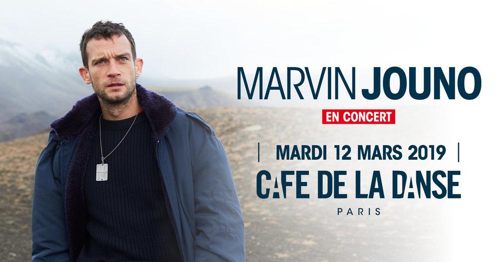 Marvin Jouno cafe de la danse 12 mars 2019