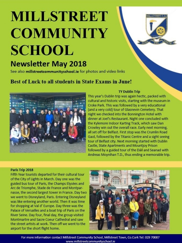 May 2018 Edition - MCS Newsletter May 2018