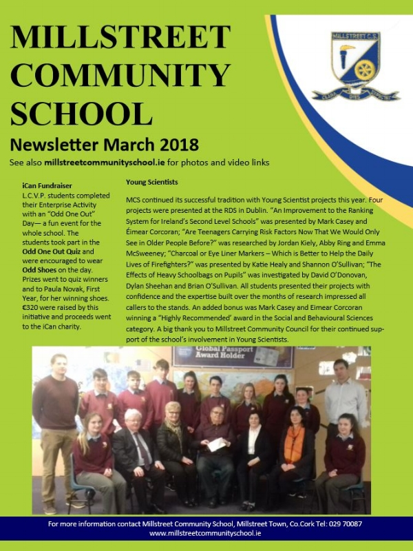 Mar 2018 Edition - MCS Newsletter March 2018