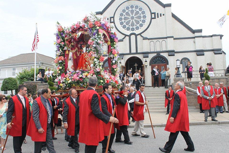 Sunday Procession Leaving -