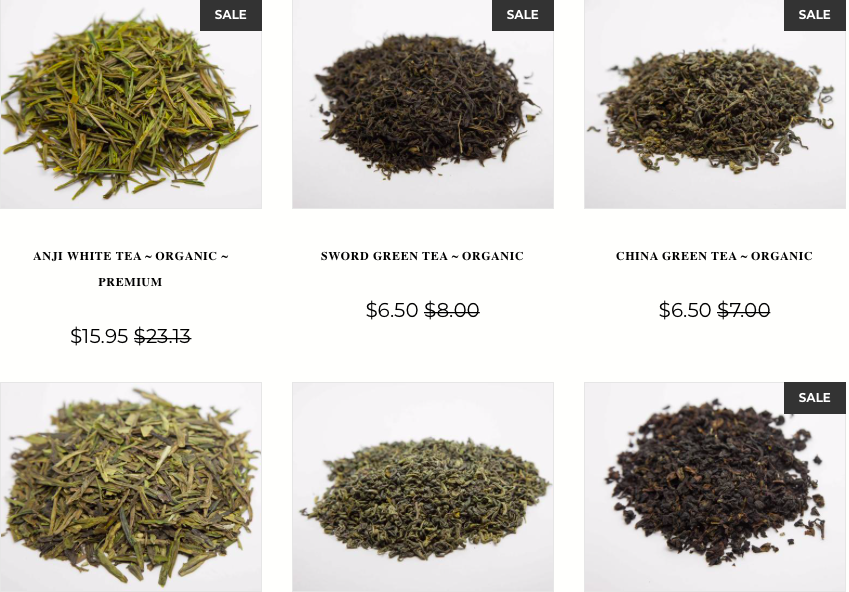 loose leaf organic teas