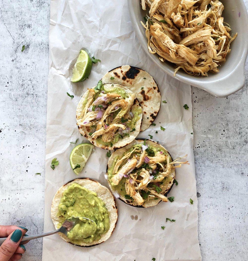Citrus Cilantro Chicken Tacos, Instant Pot Meal Prep 2