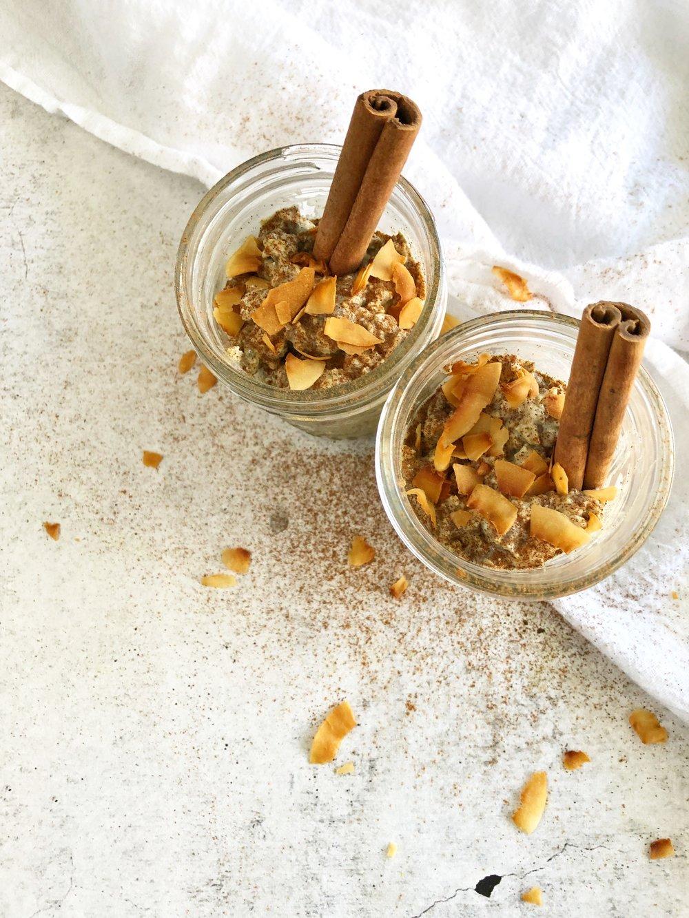 Coconut Chai Spiced Overnight Oats, Meal Prep 1