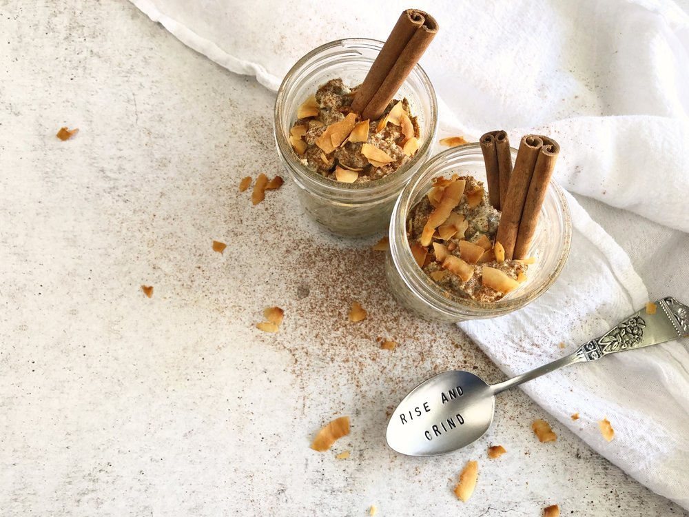Coconut Chai Spiced Overnight Oats, Meal Prep 3