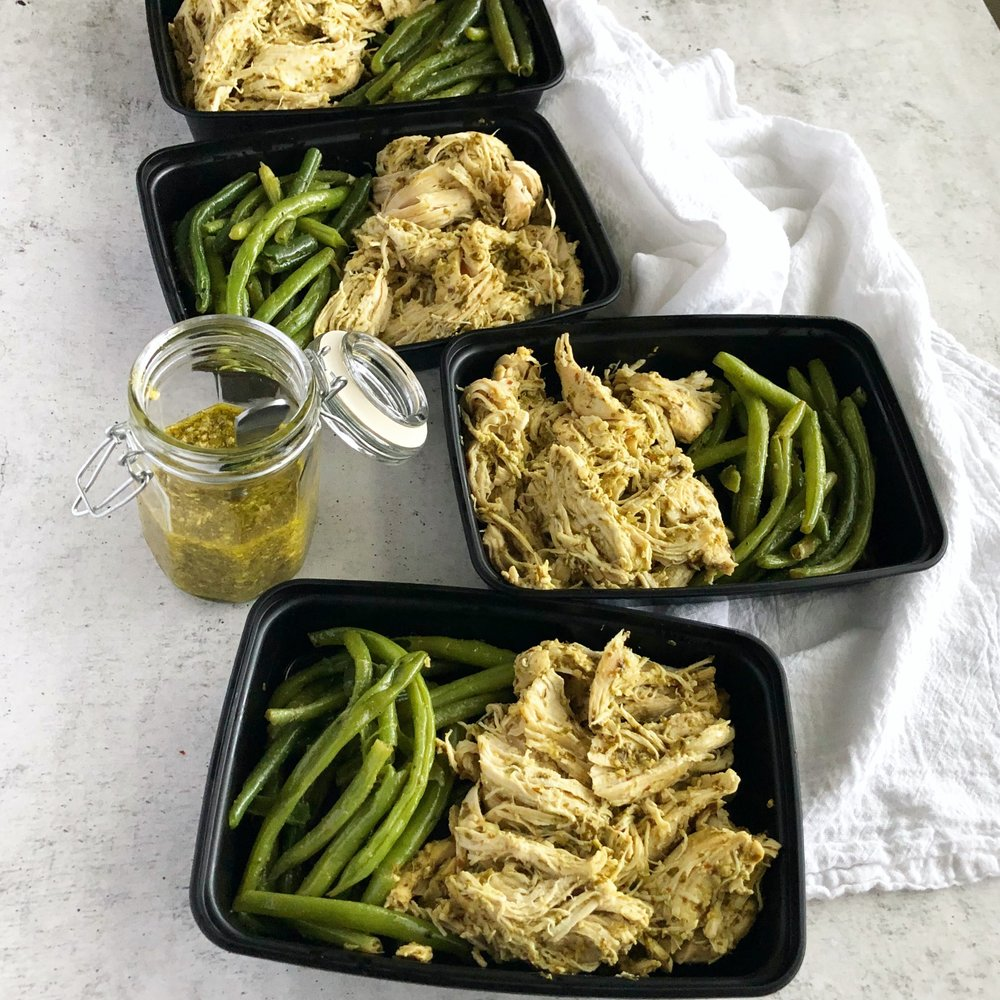 Instant Pot Pesto Chicken, Instant Pot Meal Prep 1