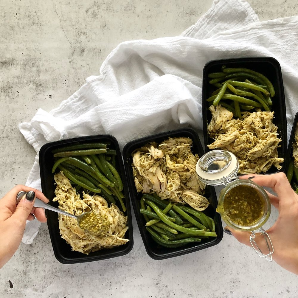 Instant Pot Pesto Chicken, Instant Pot Meal Prep 2