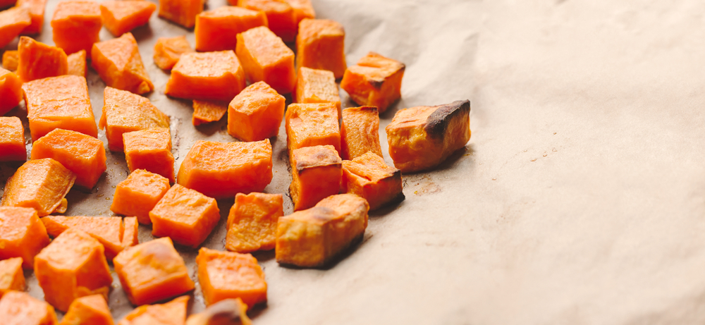 Easy Baked Sweet Potato Cubes