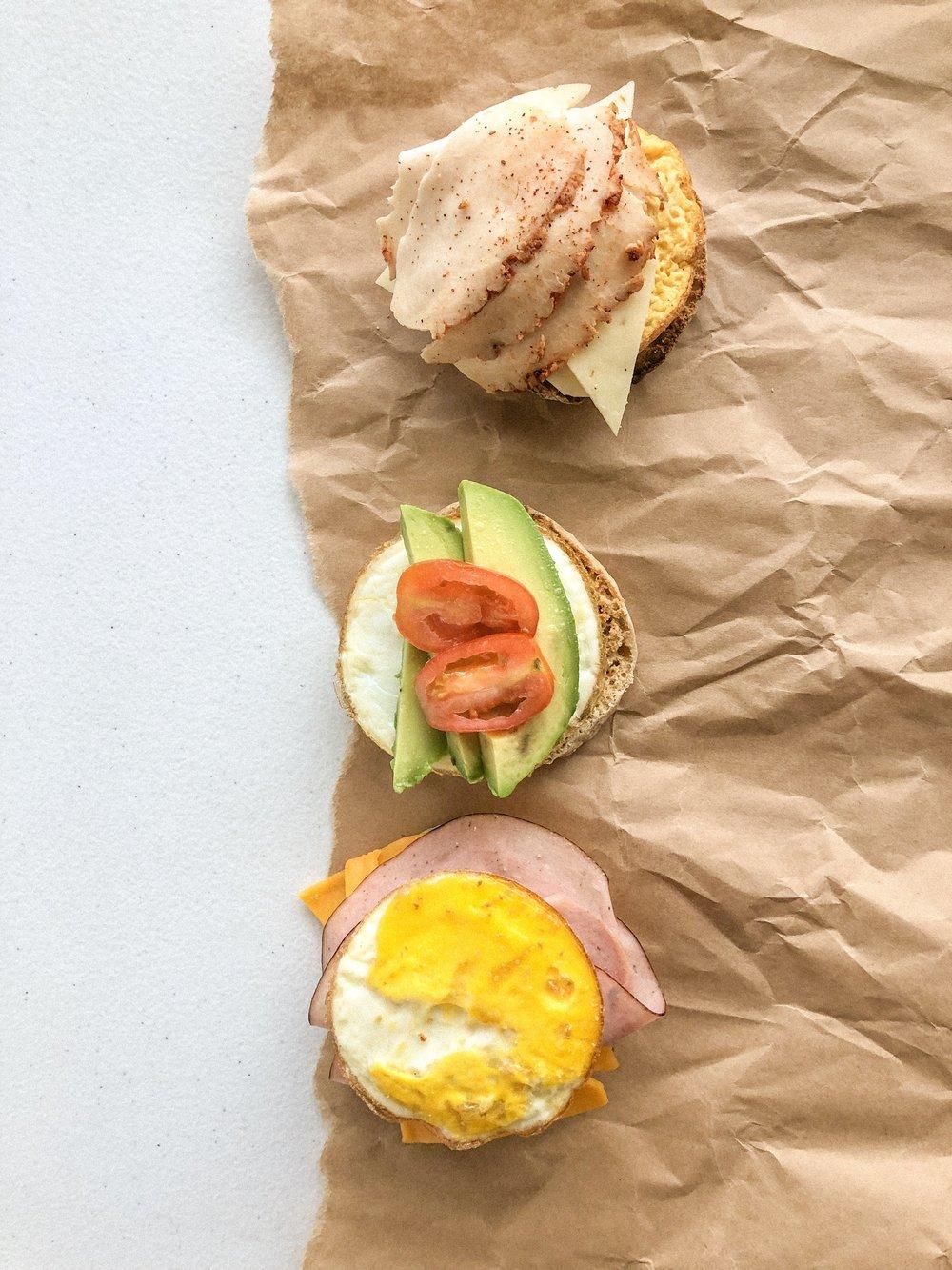 Meal prep breakfast sandwiches 4
