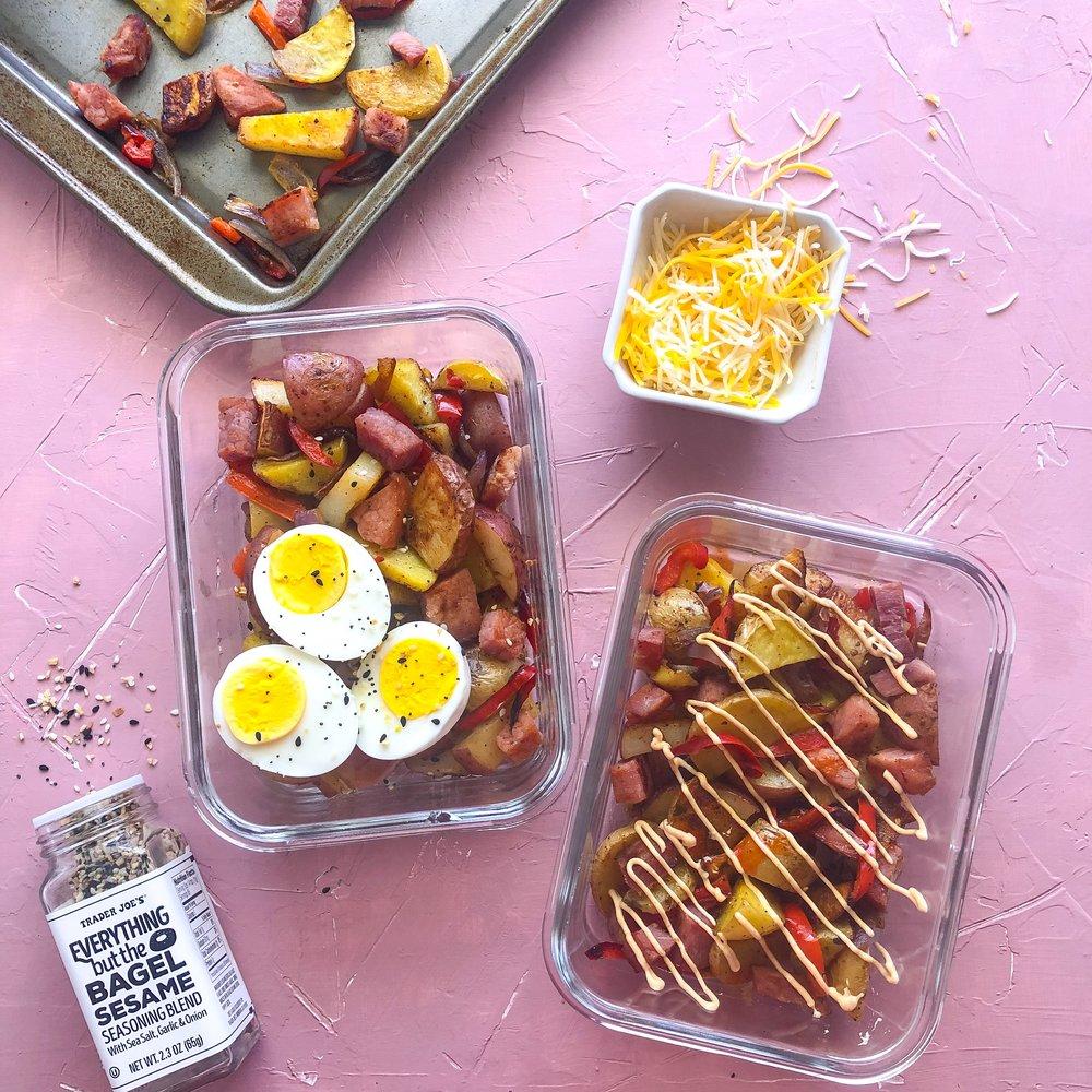 Denver style breakfast, sheetpan breakfast, meal prep 4