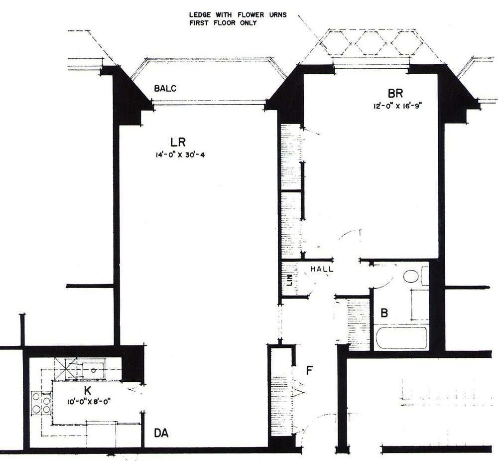 One bedroom (Typical)B